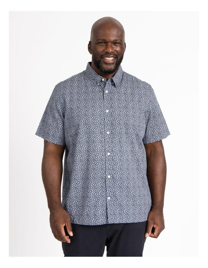 Gibson Floral Circle Print Short Sleeve Shirt image 1