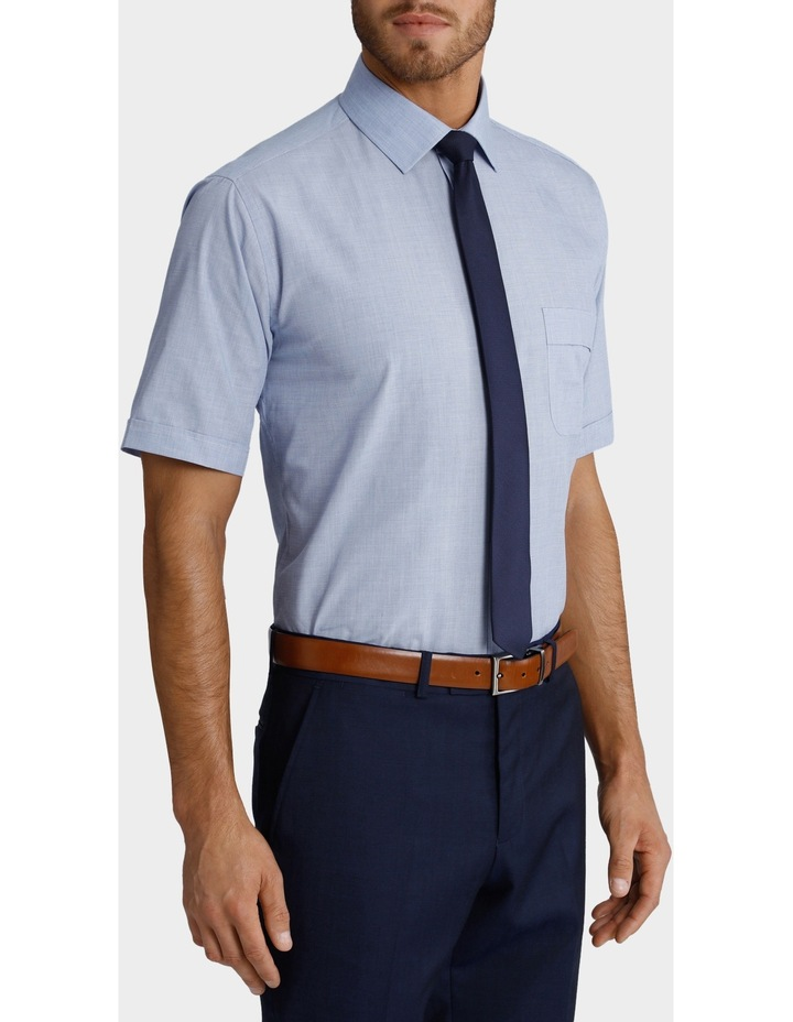 Blue Short Sleeve Business Shirt image 2