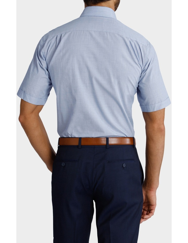 Blue Short Sleeve Business Shirt image 3