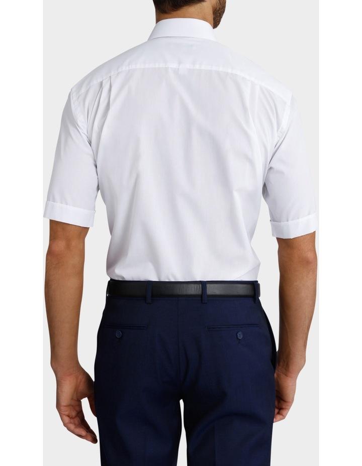 White Poplin Short Sleeve Business Shirt image 3