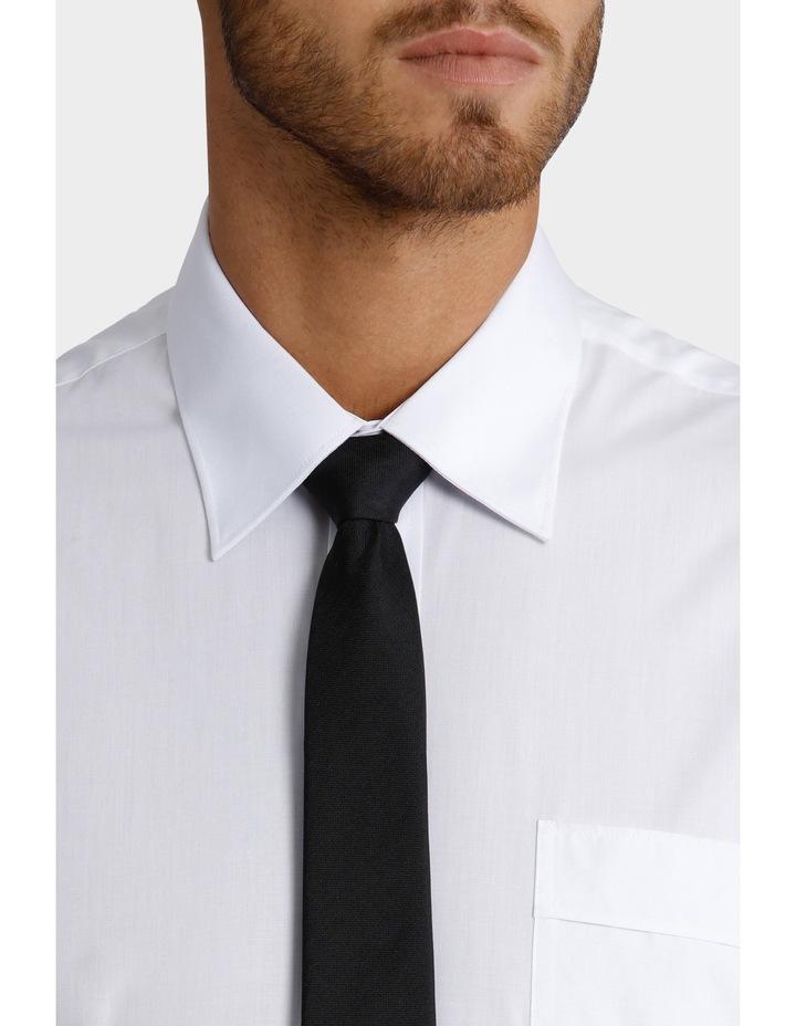 White Poplin Short Sleeve Business Shirt image 4