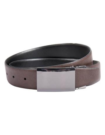 d13f203105368 Blaq Reversible Plate Buckle Belt