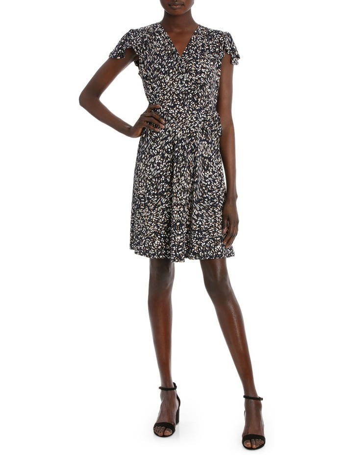 Flutter Sleeve Wrap Jersey Dress image 1
