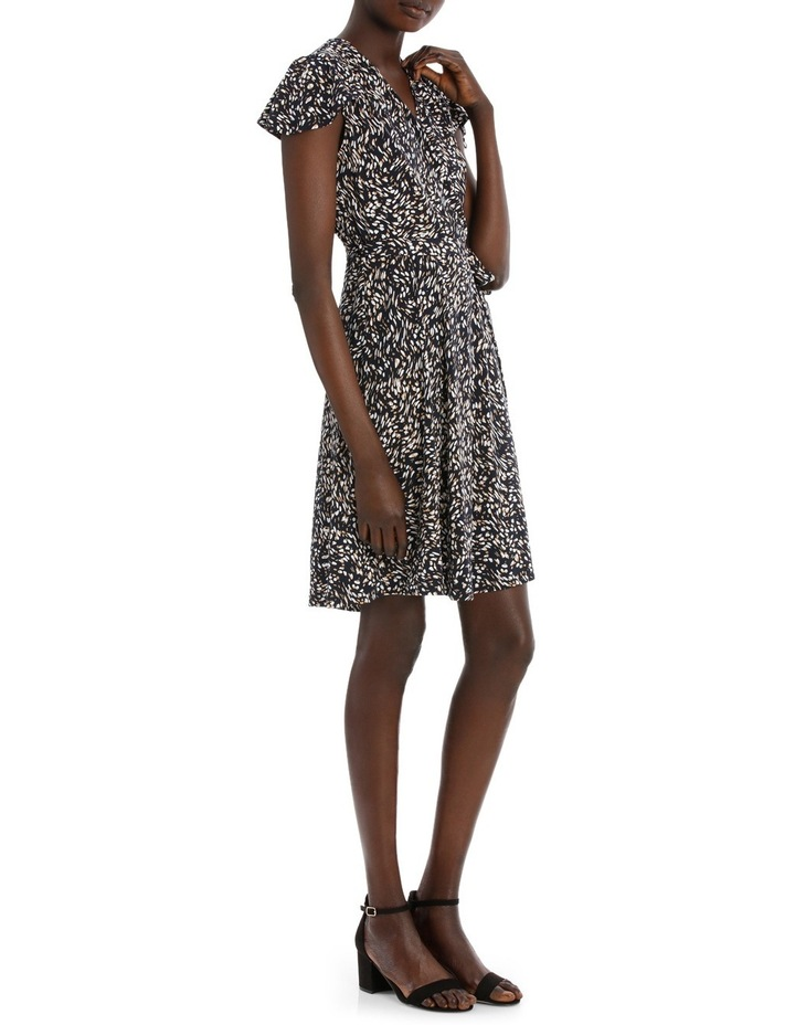 Flutter Sleeve Wrap Jersey Dress image 2