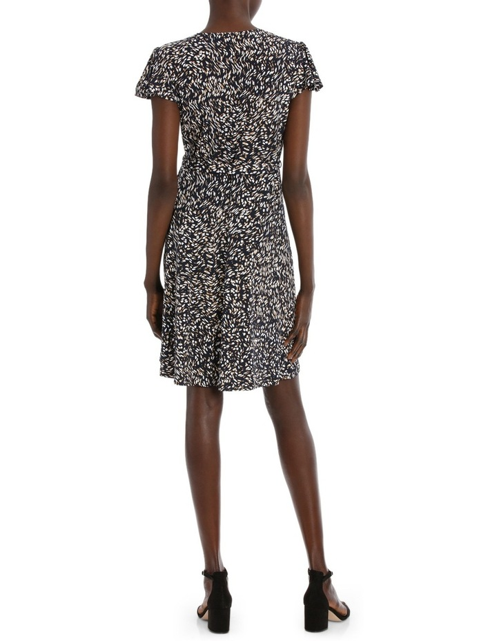 Flutter Sleeve Wrap Jersey Dress image 3
