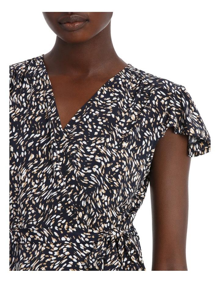 Flutter Sleeve Wrap Jersey Dress image 4
