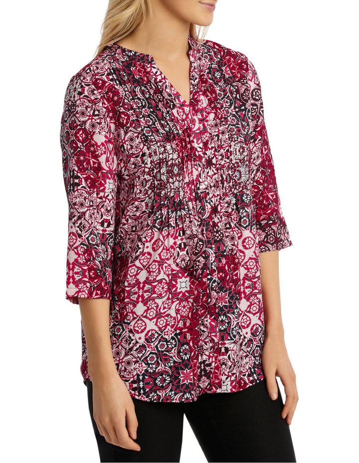 Tile Tuck Front 3/4 Sleeve Shirt image 2