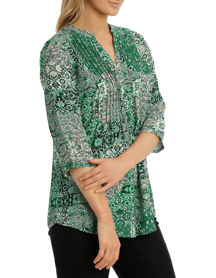 Tile Tuck Front 3/4 Sleeve Shirt image 2