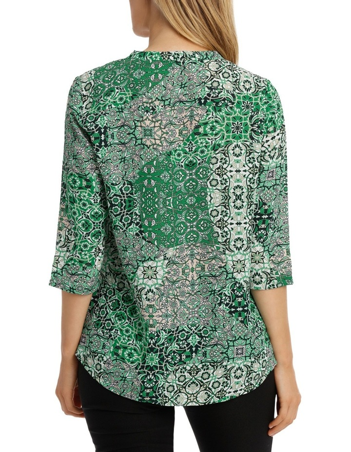 Tile Tuck Front 3/4 Sleeve Shirt image 3