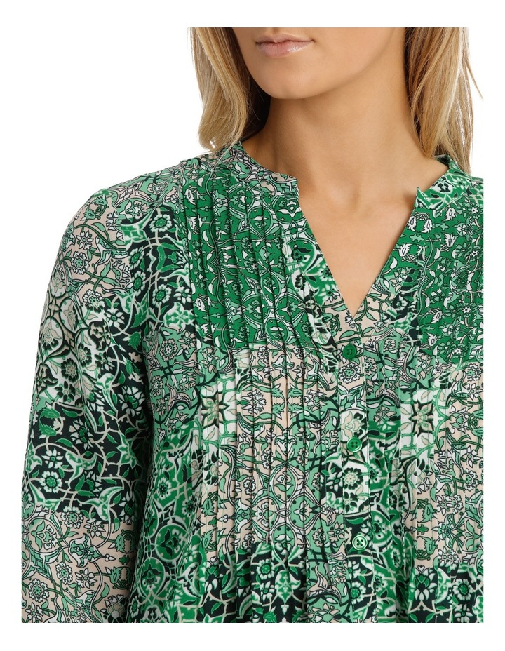 Tile Tuck Front 3/4 Sleeve Shirt image 4