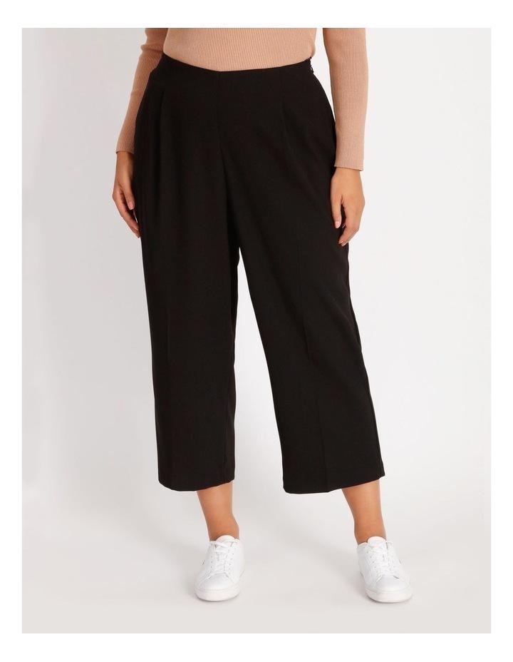 Curve Wide Leg Crepe Culotte Pants image 1