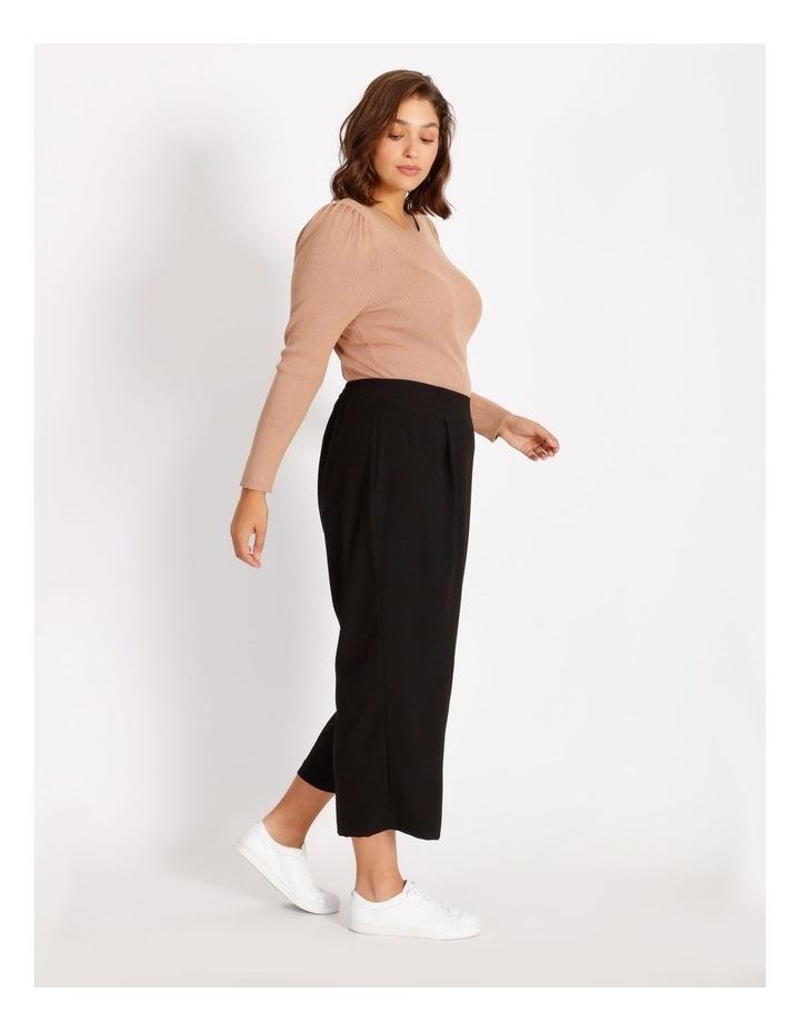 Curve Wide Leg Crepe Culotte Pants image 2