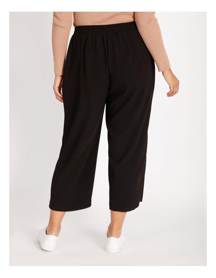 Curve Wide Leg Crepe Culotte Pants image 3