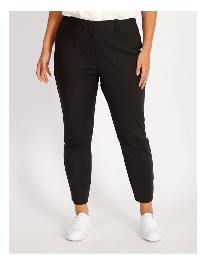 Curve Maya Mid Rise Cropped Length Cotton Sateen Pants image 1