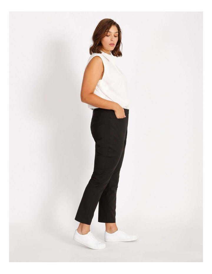 Curve Maya Mid Rise Cropped Length Cotton Sateen Pants image 2