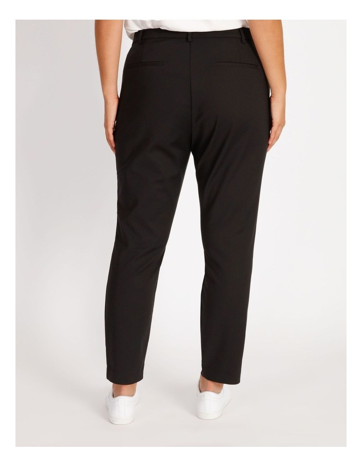 Curve Maya Mid Rise Cropped Length Cotton Sateen Pants image 3