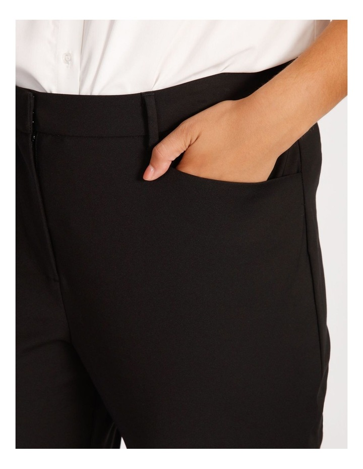 Curve Maya Mid Rise Cropped Length Cotton Sateen Pants image 4