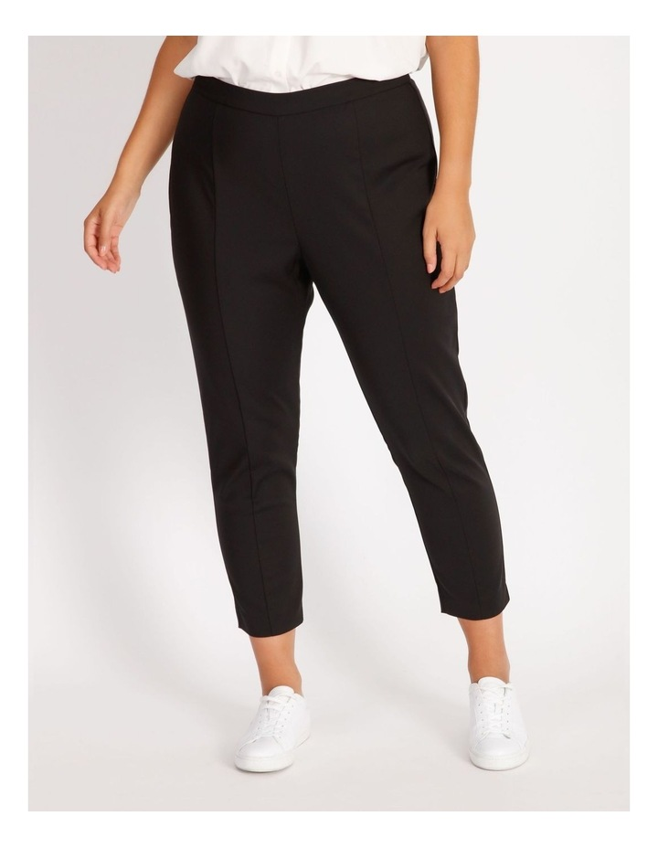 Curve Penny Mid Rise Full Length Pull On Cotton Sateen Pants image 1