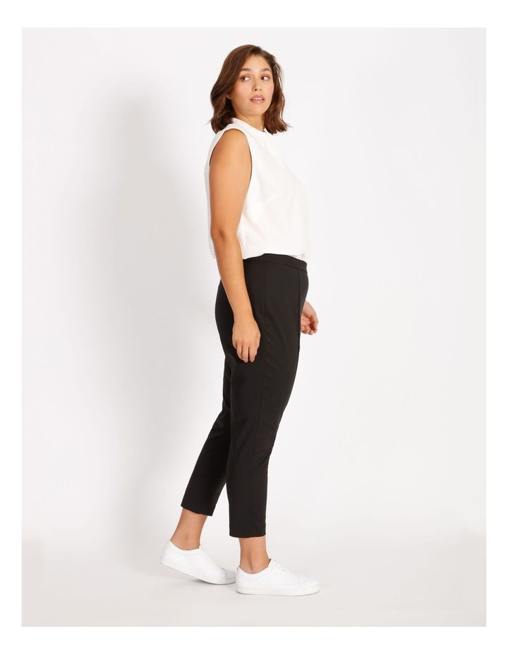 Curve Penny Mid Rise Full Length Pull On Cotton Sateen Pants image 2