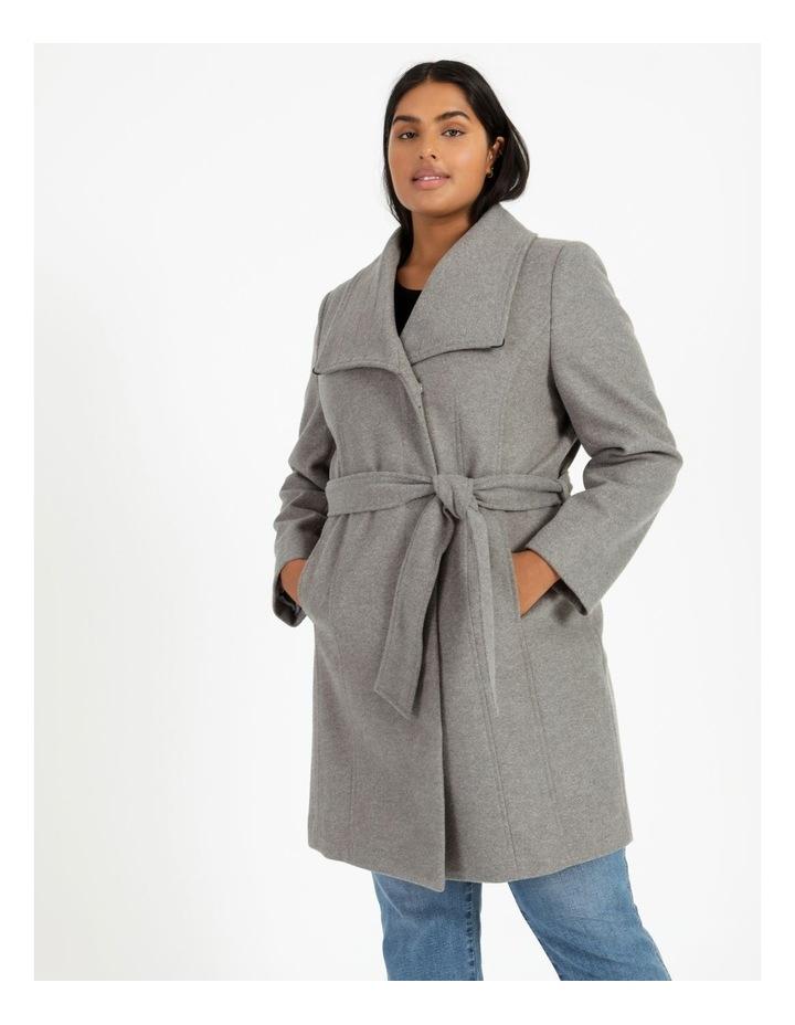 Funnel Neck Wrap Coat image 3
