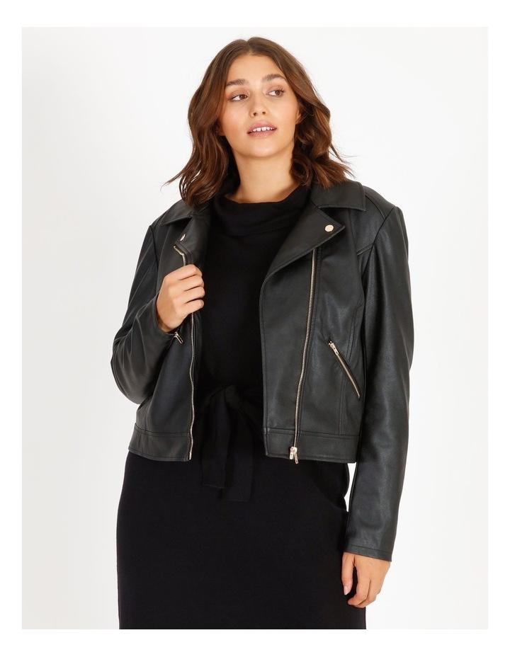 Faux Leather Biker Jacket image 1
