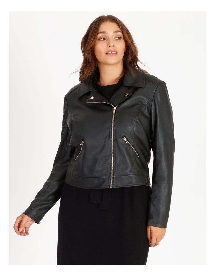Faux Leather Biker Jacket image 6