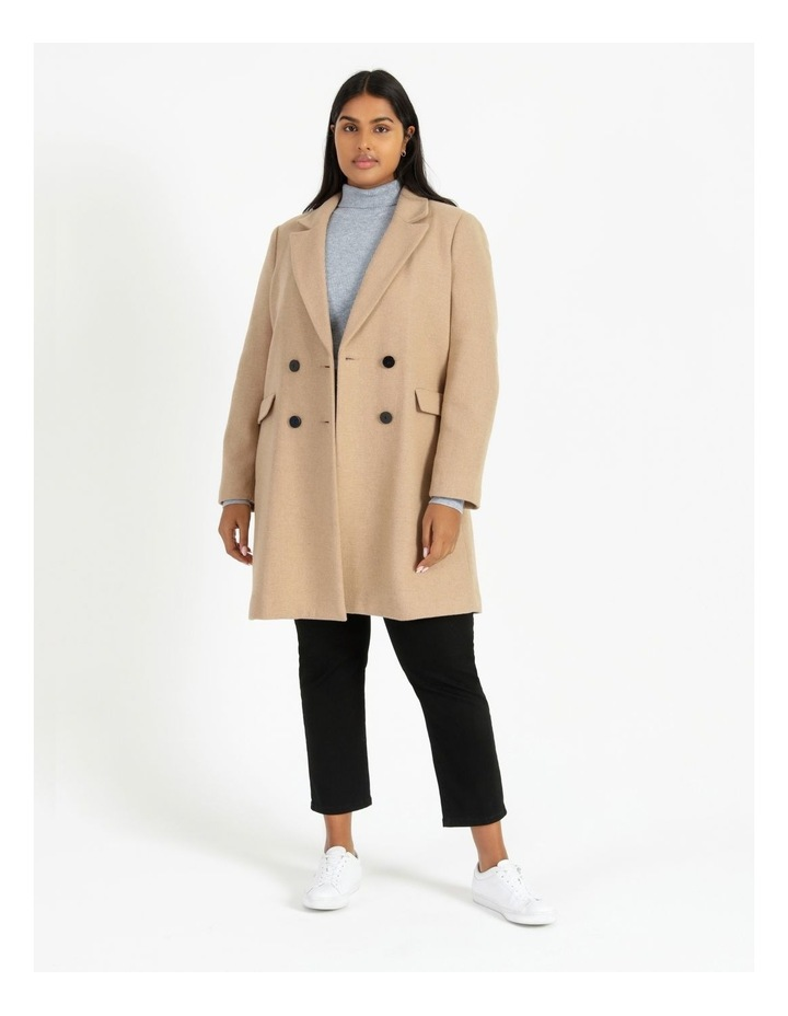 Curve Double-Breasted Wool Blend Coat image 1