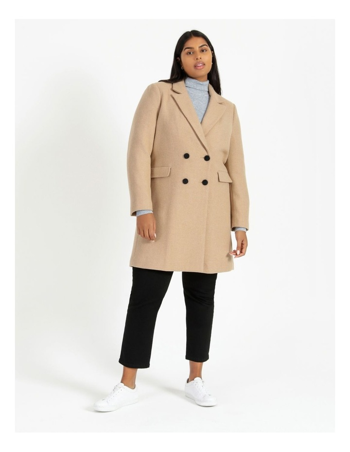 Curve Double-Breasted Wool Blend Coat image 2
