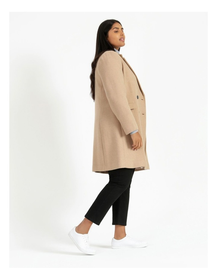 Curve Double-Breasted Wool Blend Coat image 3
