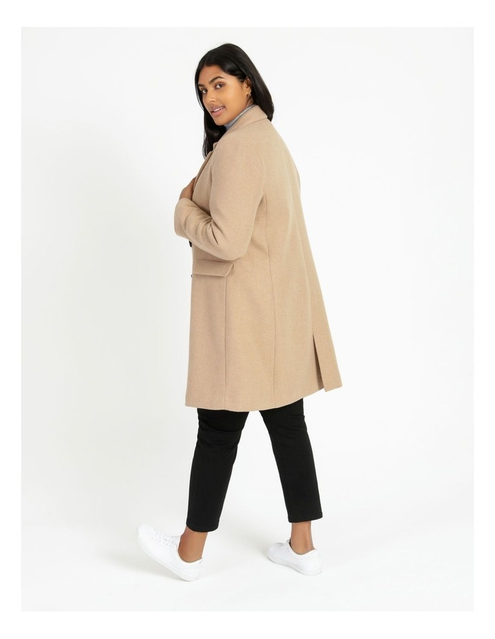 Curve Double-Breasted Wool Blend Coat image 4