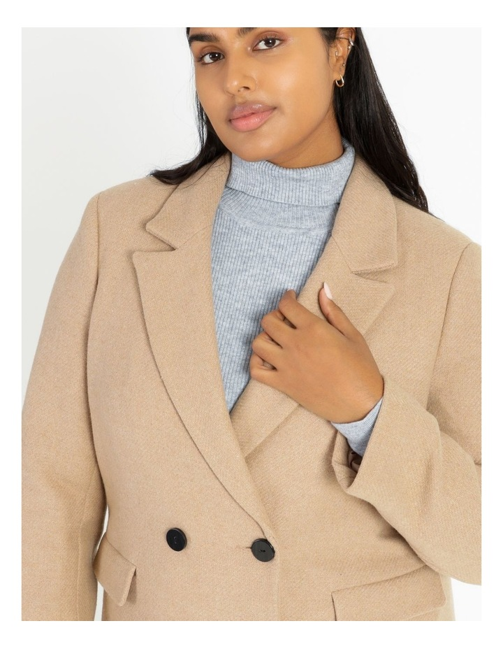Curve Double-Breasted Wool Blend Coat image 5