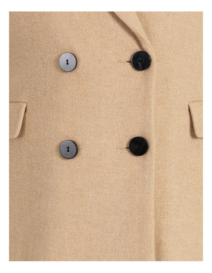 Curve Double-Breasted Wool Blend Coat image 6