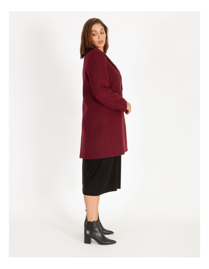 Double-Breasted Wool Blend Coat image 2