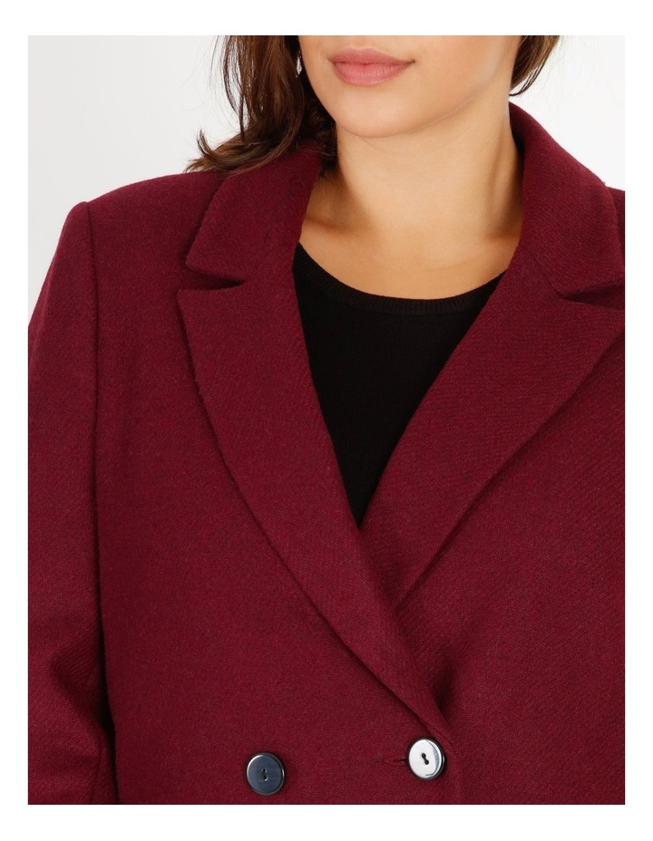 Double-Breasted Wool Blend Coat image 4