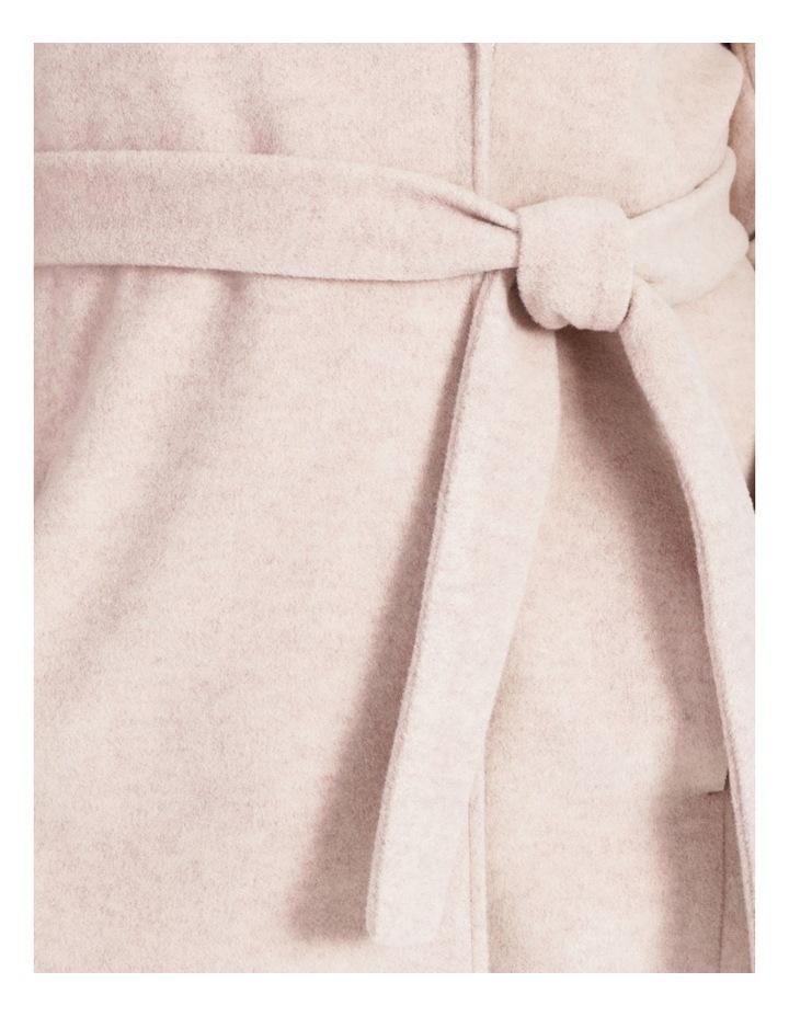 Faux Fur Collar Wrap Coat Blush Marle image 2