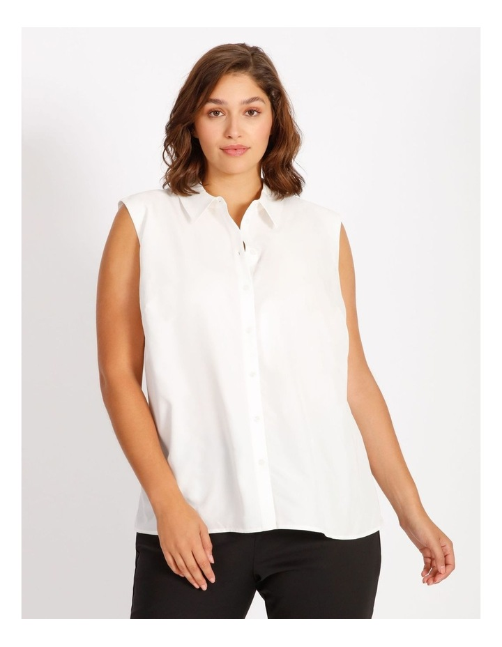 Curve Power Shoulder Modal Blend Shirt image 1