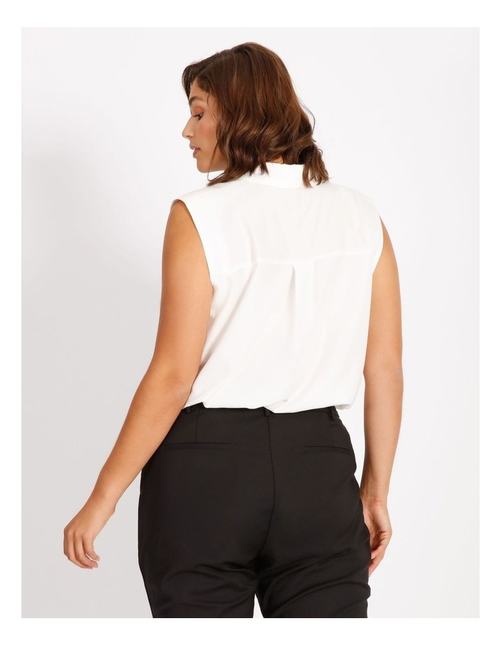 Curve Power Shoulder Modal Blend Shirt image 3