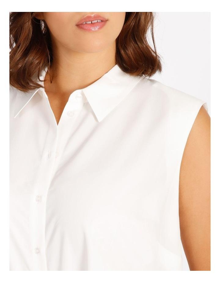 Curve Power Shoulder Modal Blend Shirt image 4