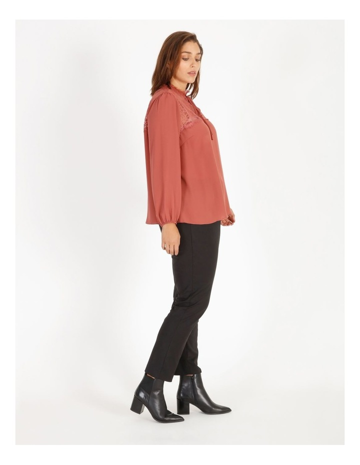 Lace Yoke Blouse With Tie image 2