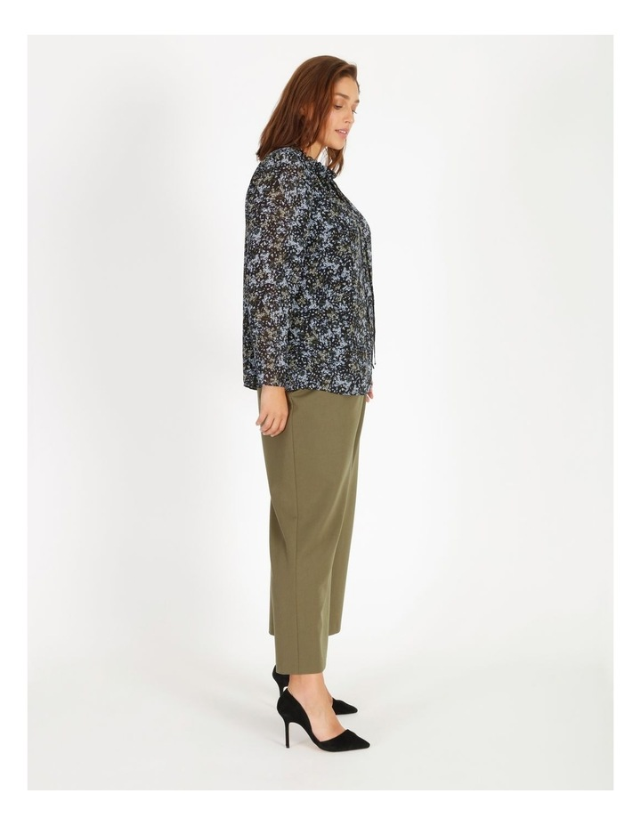 Puff Sleeve Tie Neck Blouse image 2