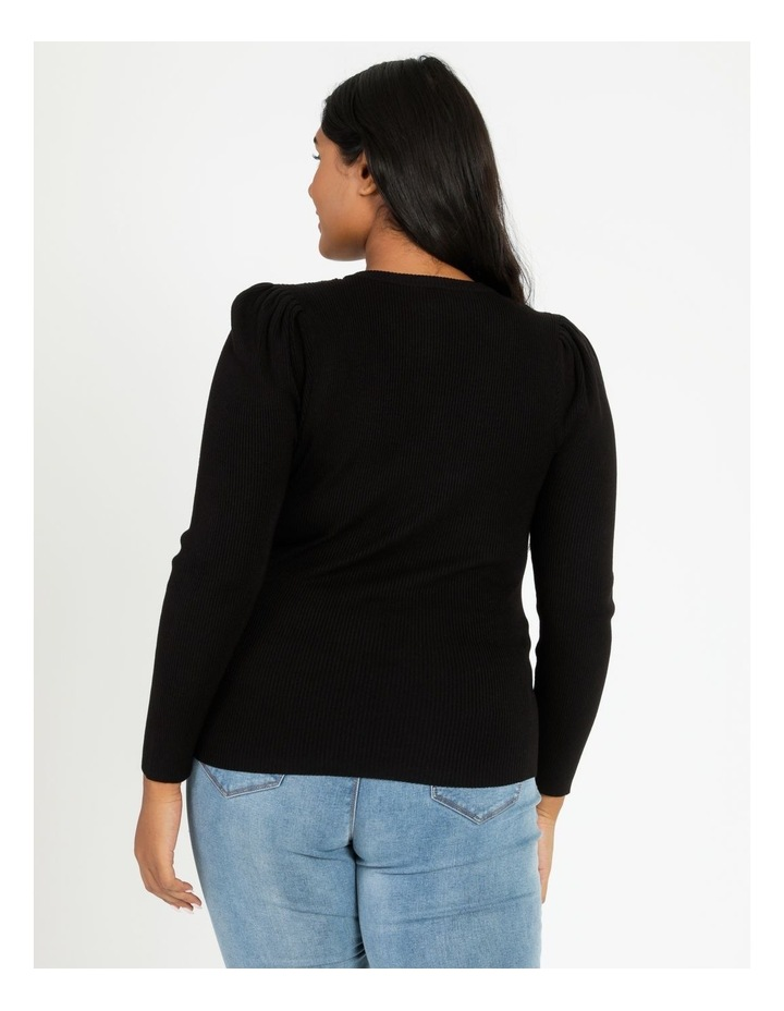 Puff Sleeve Knit Top image 5