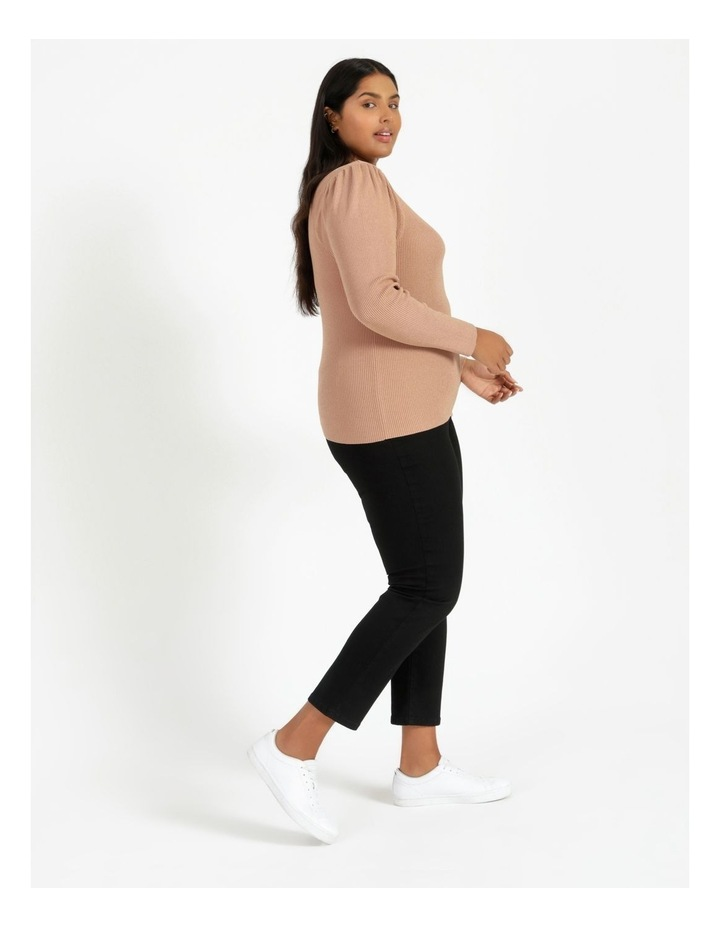 Puff Sleeve Knit Top image 2