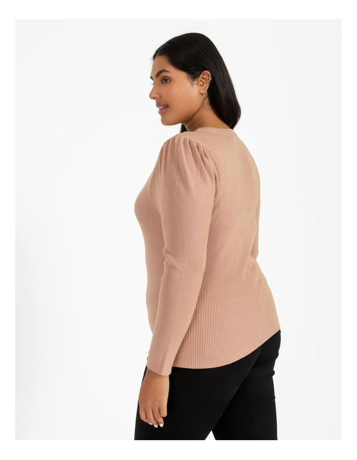 Puff Sleeve Knit Top image 3