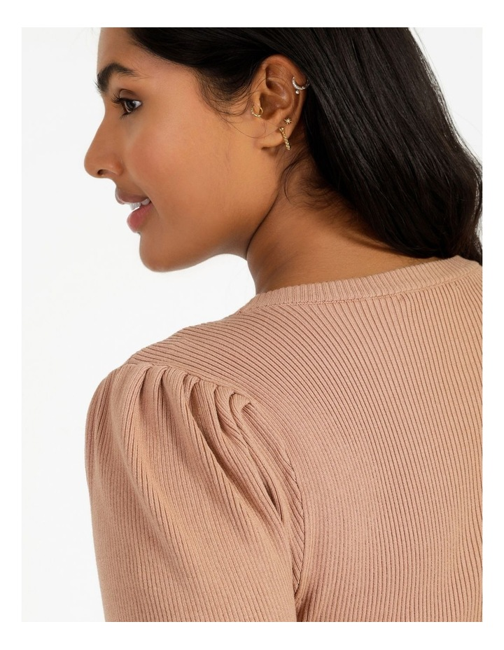 Puff Sleeve Knit Top image 4