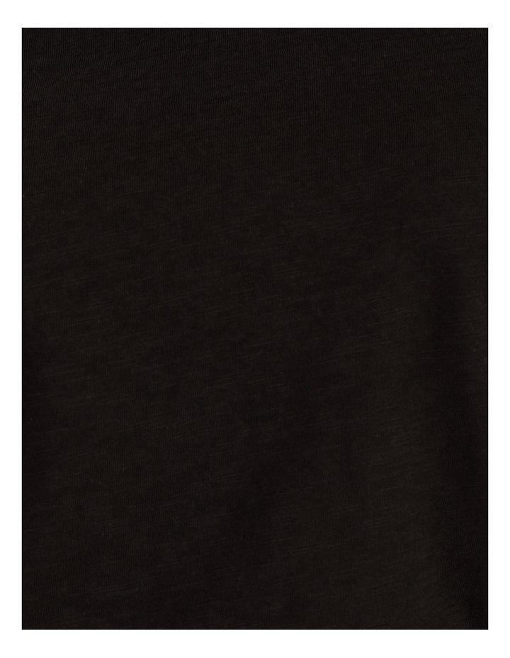 Organic Cotton Flutter Sleeve T-Shirt Black image 7