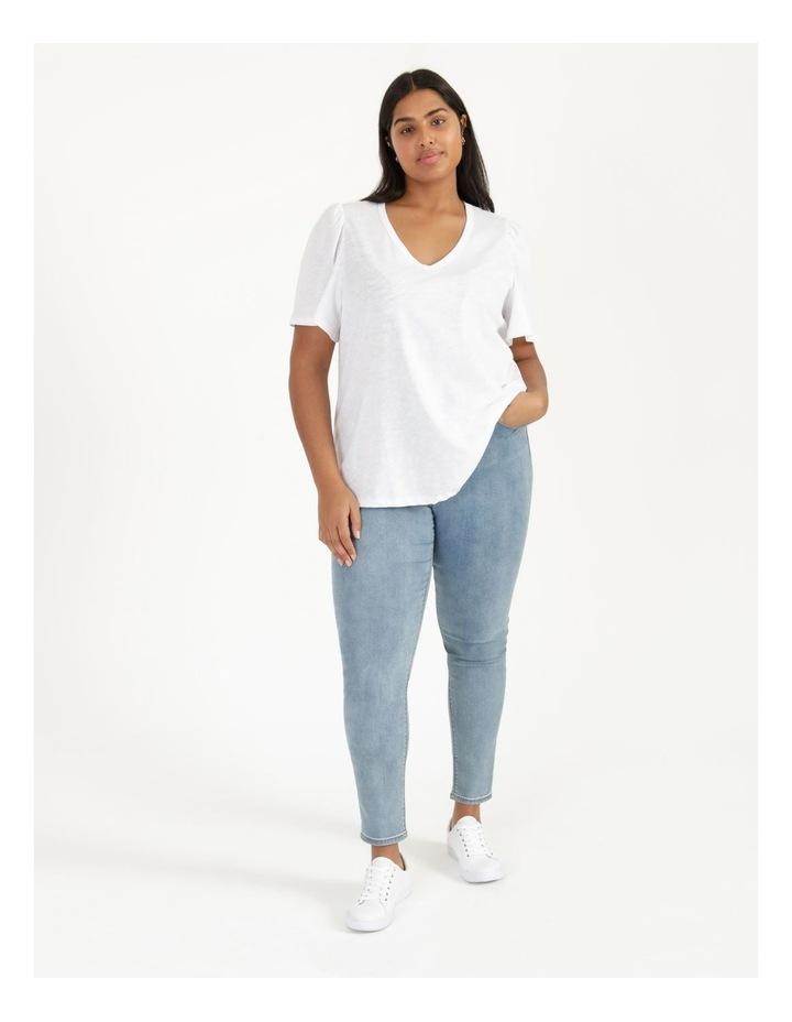 Organic Cotton Flutter Sleeve T-Shirt White image 1