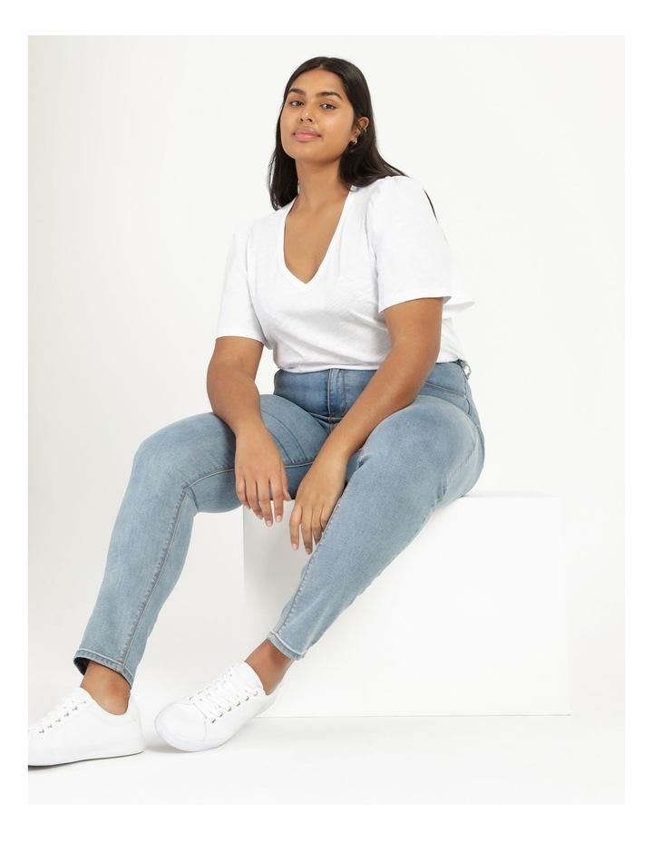 Organic Cotton Flutter Sleeve T-Shirt White image 2