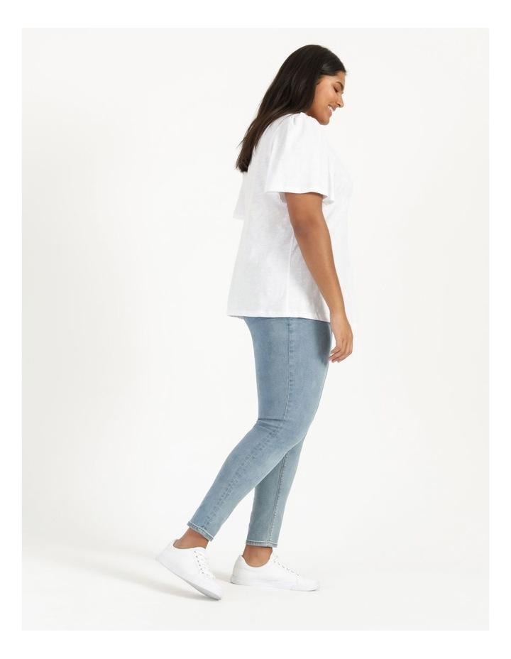 Organic Cotton Flutter Sleeve T-Shirt White image 4