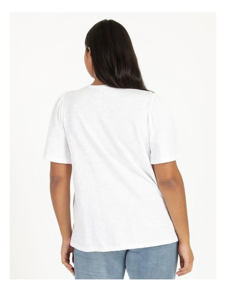 Organic Cotton Flutter Sleeve T-Shirt White image 5