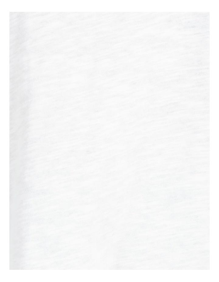 Organic Cotton Flutter Sleeve T-Shirt White image 7